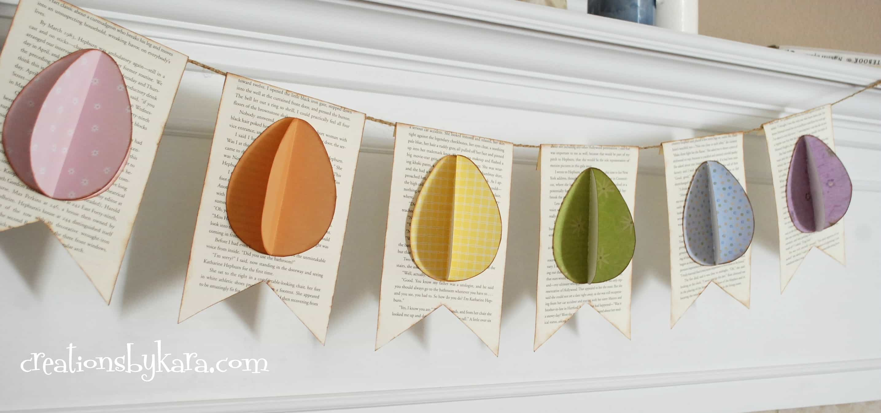 Easter craft- Easter egg banner