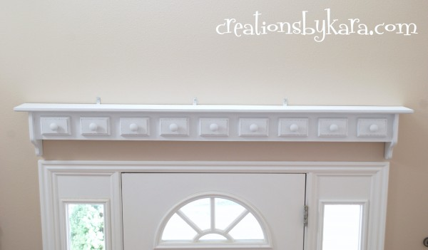 DIY-painted shelf