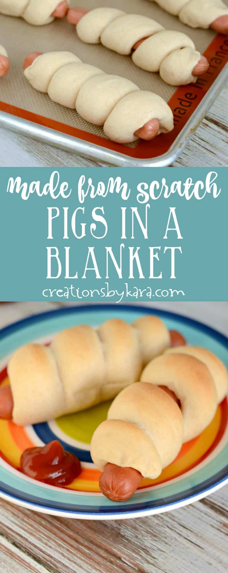 Made from scratch dough makes these the best pigs in a blanket ever! A kid pleasing dinner recipe the whole family will love.