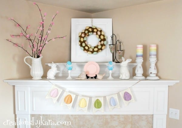 DIY-decorating the mantel