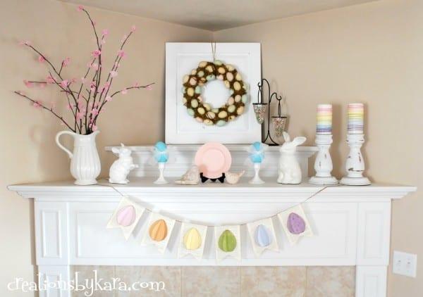 DIY-decorating the mantel