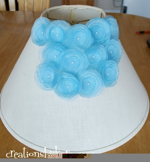 diy project-flower lampshade