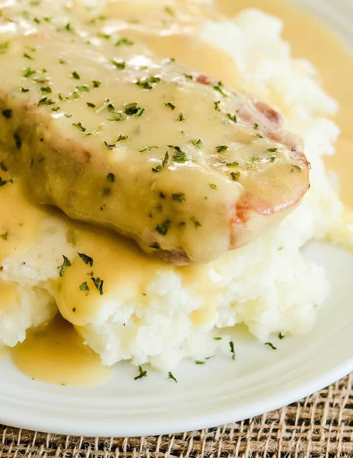 crockpot ranch pork chops with potatoes