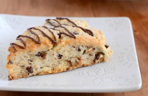 Recipe for the best ever toffee chocolate chip scones.