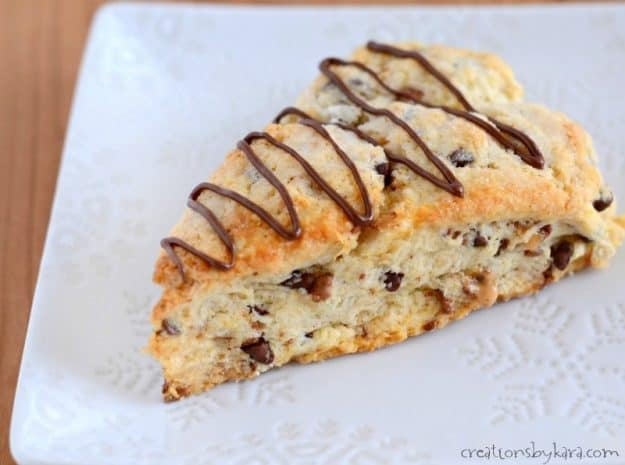 recipe for the tastiest toffee chocolate chip scones