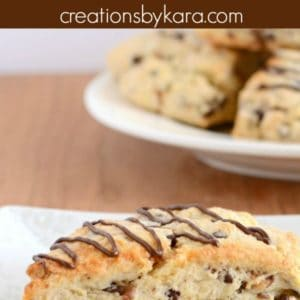 chocolate chip toffee scones