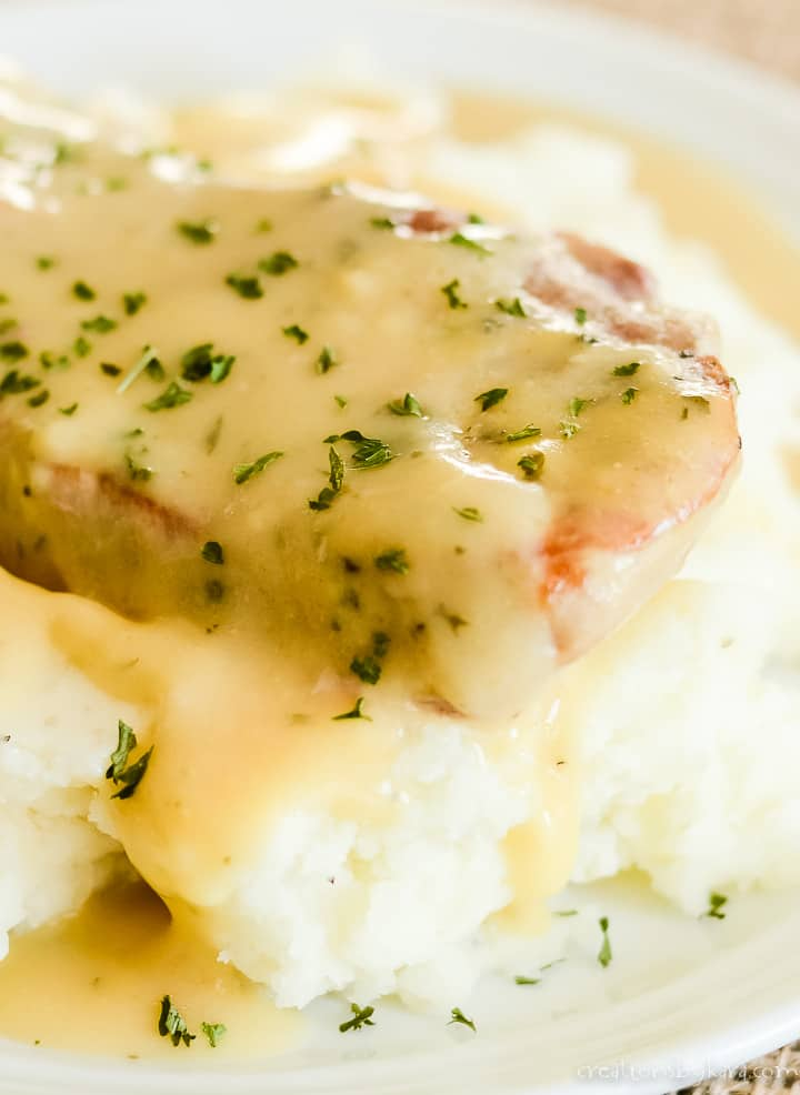 ranch dressing pork chops with mashed potatoes
