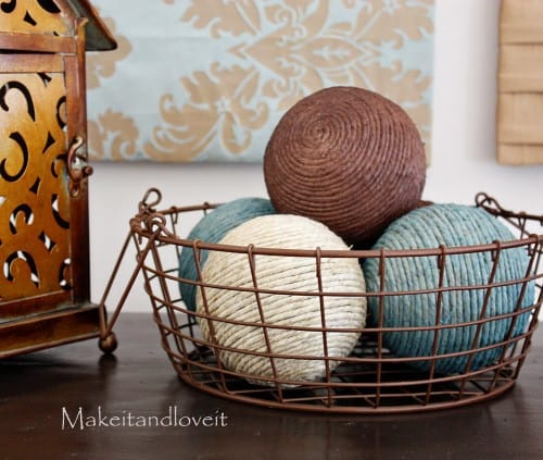 DIY Spray Paint Decor Balls Fascinating Rattan Decorative Balls