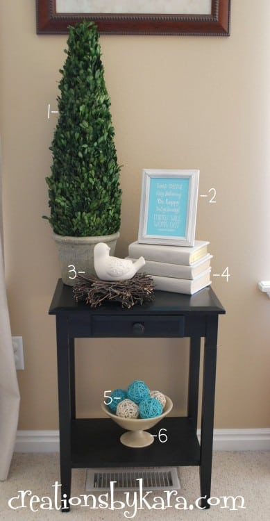 diy-decorating-living room-table
