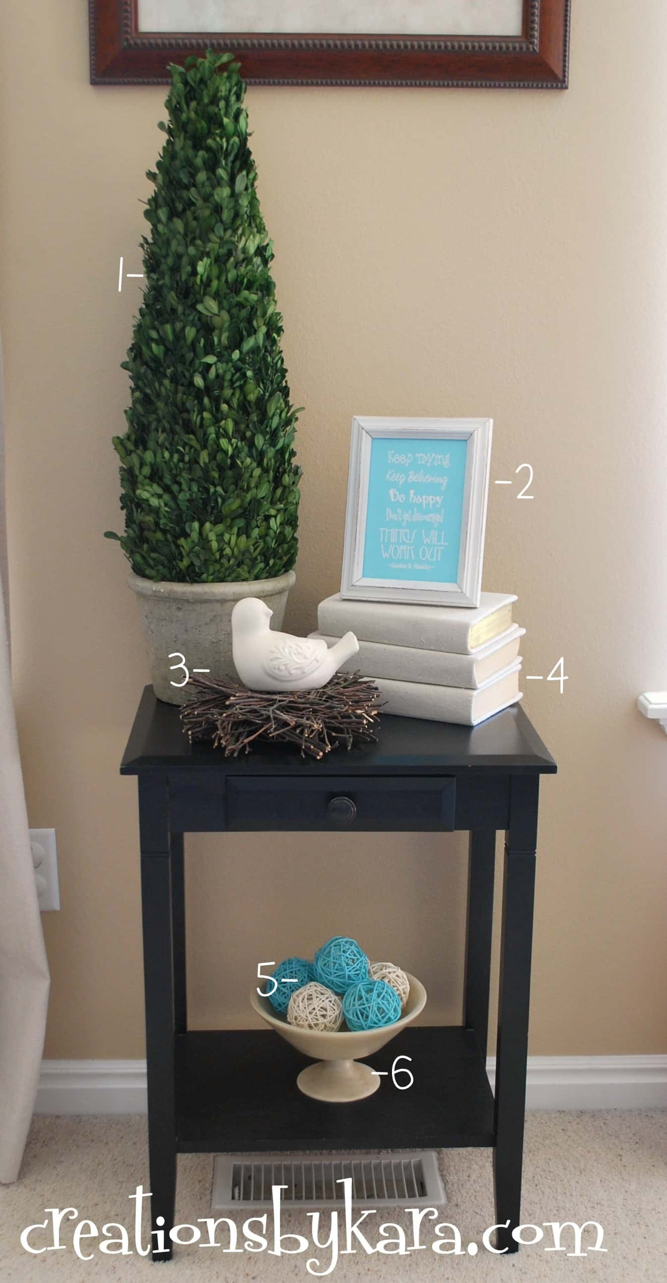 Diy Decorating Living Room Table Creations By Kara