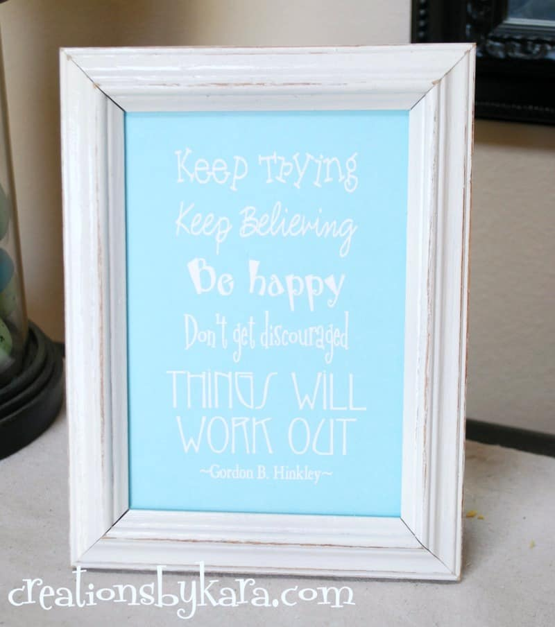 Things will work out . . . free printable lds quote. Several colors to choose from.