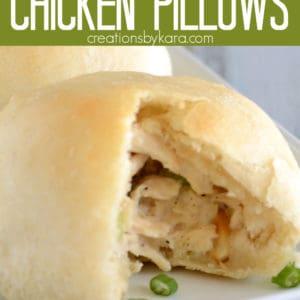 homemade chicken pillows pinterest pin