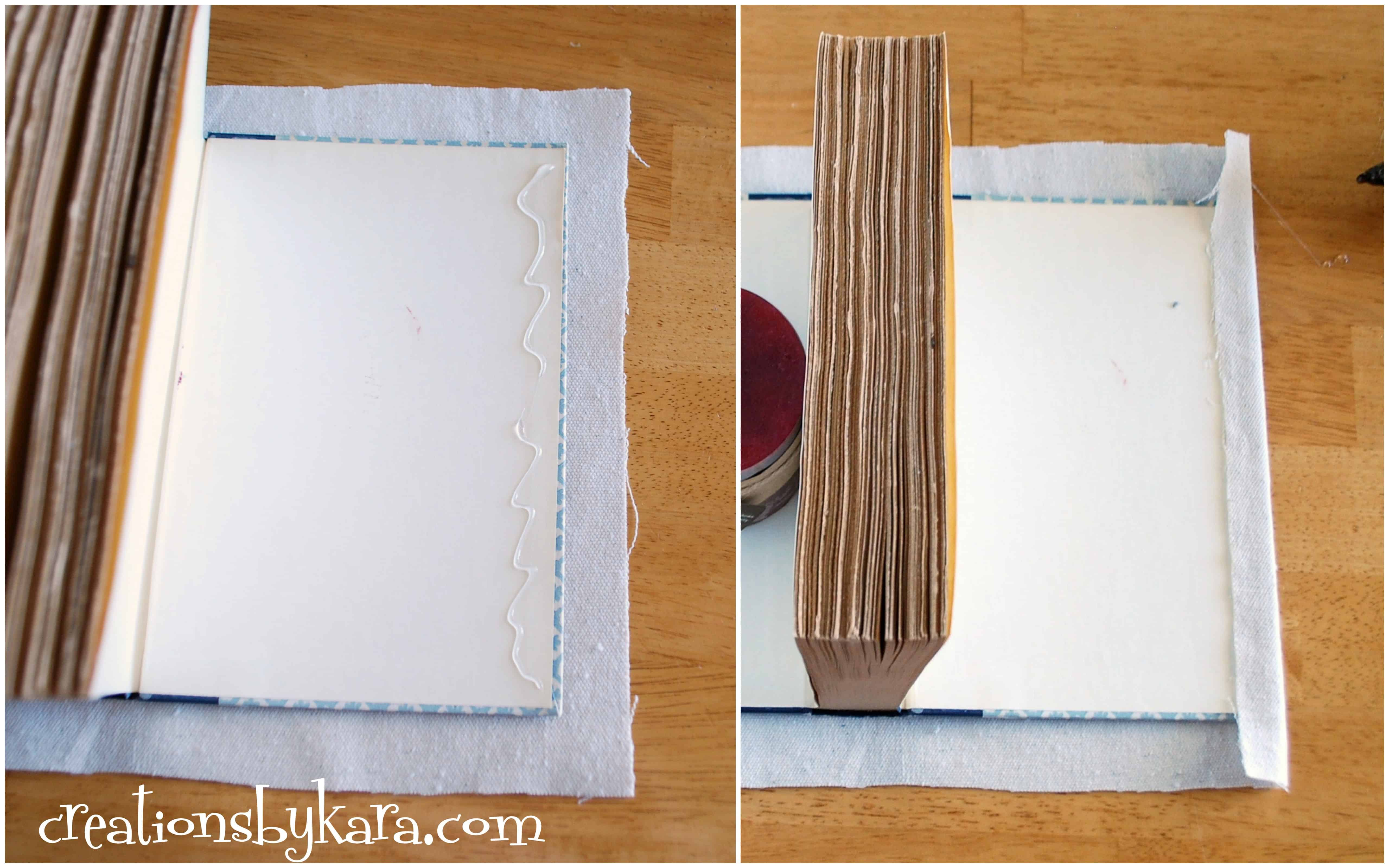 How to cover a book with fabric