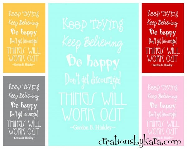 free printable-lds-quote, things will work out