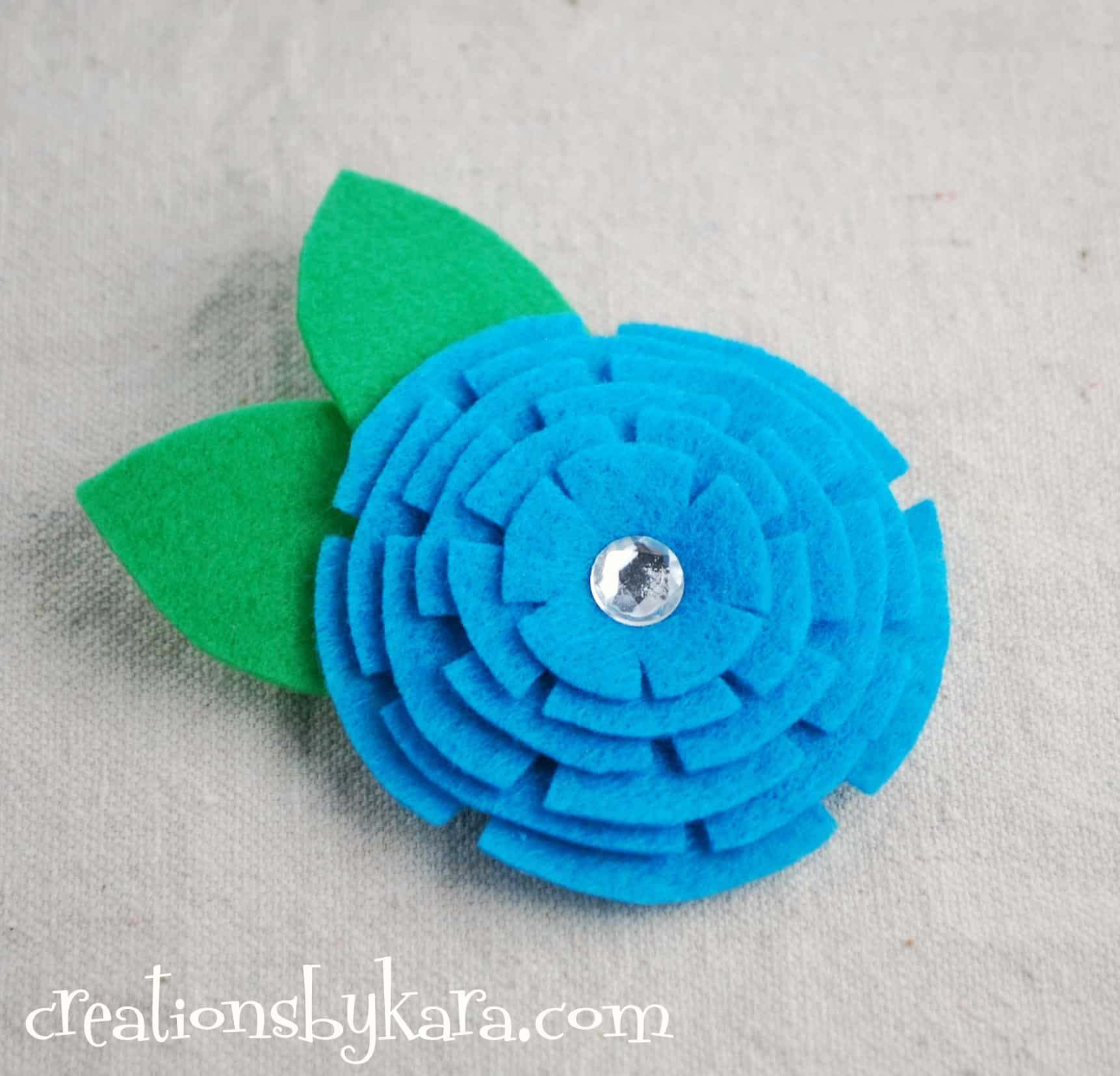 stacked felt flower tutoria