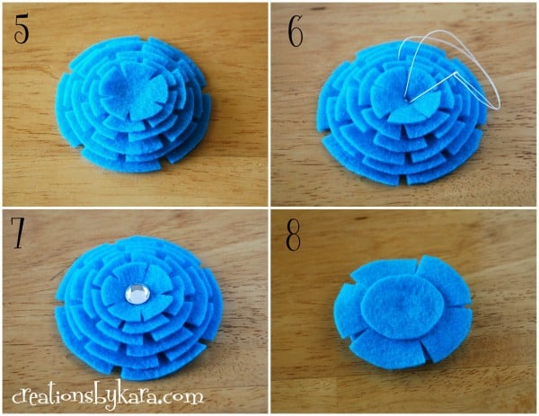 Stacked felt flower tutorial