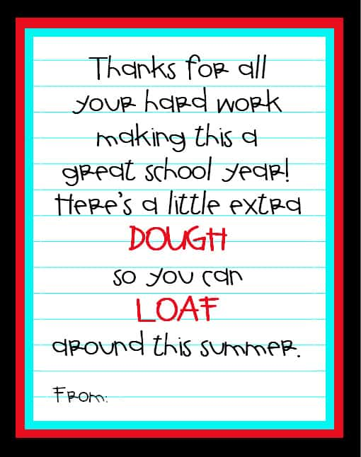 picture relating to Free Printable Teacher Appreciation Tags referred to as Instructor appreciation principle