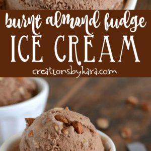 burnt almond fudge ice cream collage