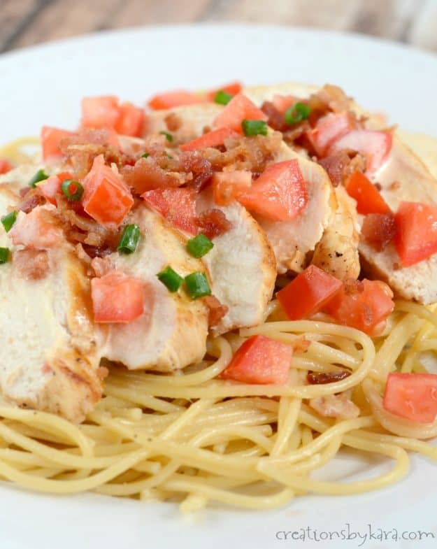 With a creamy lemon sauce, a touch of honey, and a sprinkle of bacon, this Chicken and Pasta is packed with flavor!