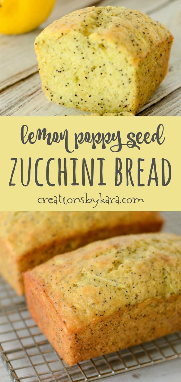 Lemon poppy seed zucchini bread recipe collage