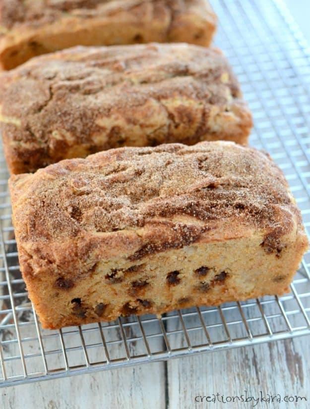 Snickerdoodle Bread - Cinnamon sugar bread