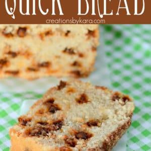 cinnamon chip snickerdoodle quick bread Pinterest Pin