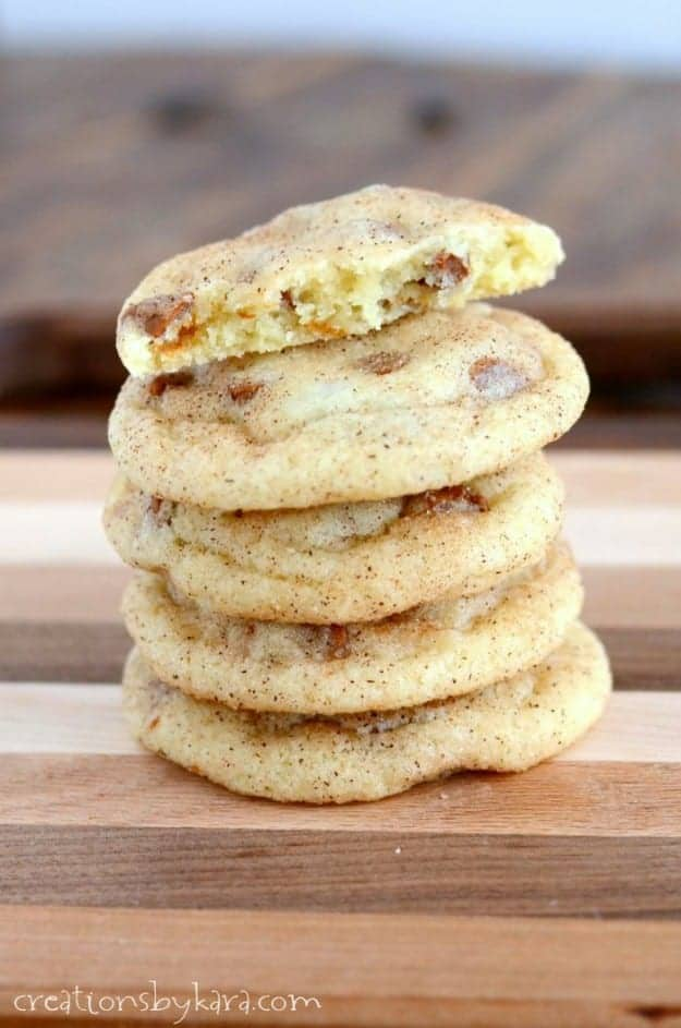 Snickerdoodles with cinnamon chips- a must try cookie recipe!