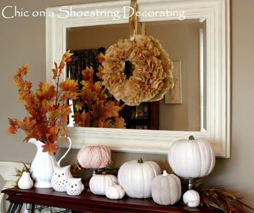 white-pumpkin-mantel