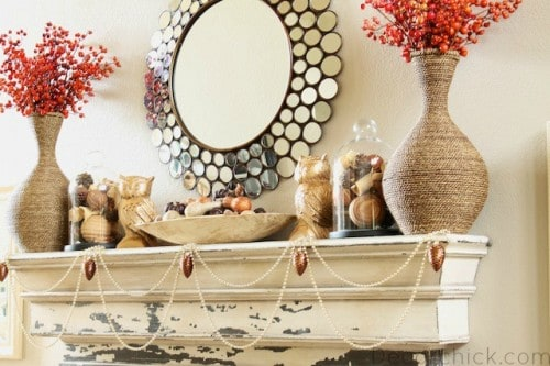 diy-glam-fall-mantel