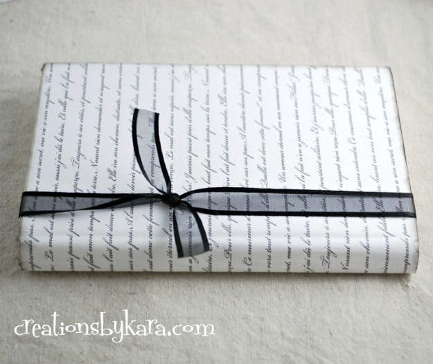 Vintage paper wrapped book tutorial
