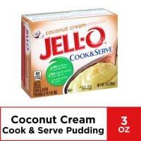 Jell-O Cook and Serve Coconut Cream Pudding, 3 oz Box