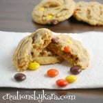 Reese's Peanut Butter Chocolate Chip Cookies with Pudding