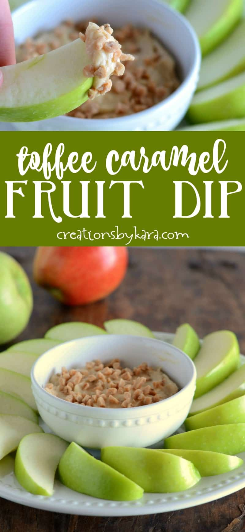 Toffee Caramel Fruit Dip - totally addicting, everyone loves this fruit dip! We love it with apples.