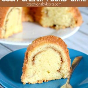 sour cream cinnamon pound cake recipe pinterest pin