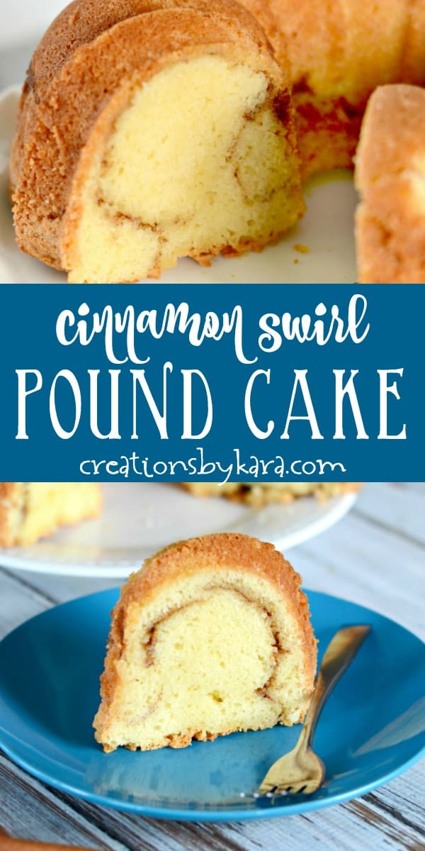 cinnamon swirl bundt cake recipe collage