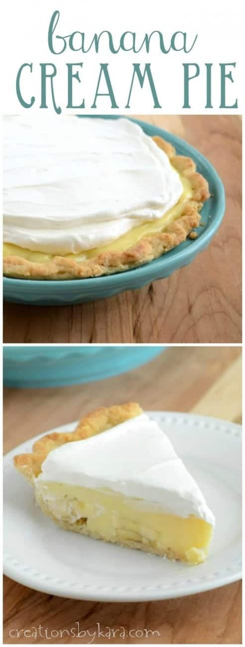 This from scratch Banana Cream Pie is sure to be a hit with all your family and friends!