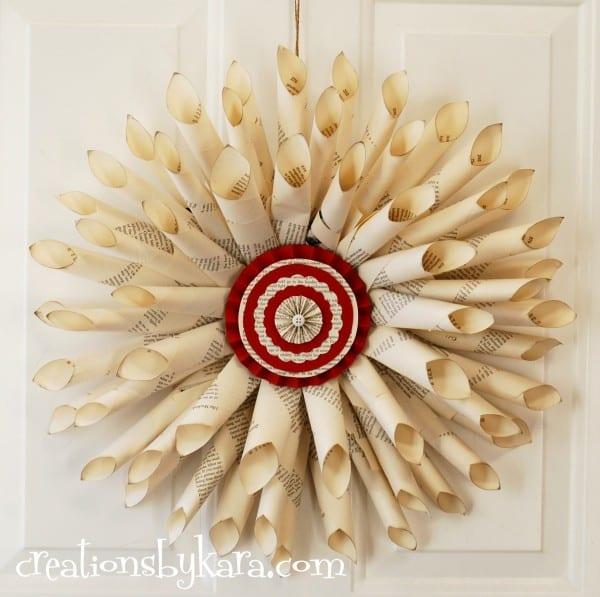 christmas-decor-christmas-wreath-book-page-wreath