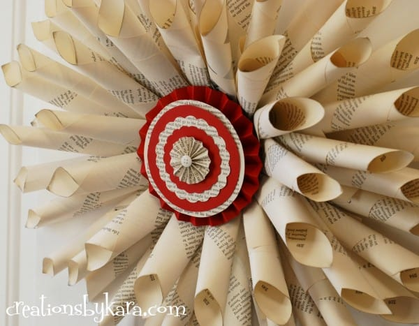 diy-tutorial-chrismtas-book-page-wreath