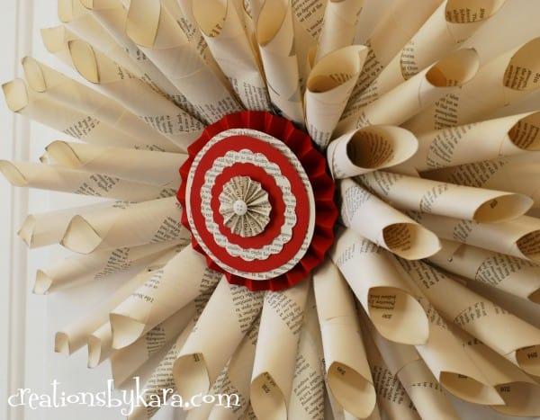 diy-tutorial-chrismtas-book-page-wreath