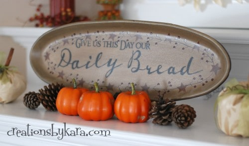 Fall Decor-Fall Mantel 2012
