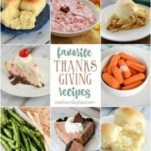 Favorite Thanksgiving recipes collage