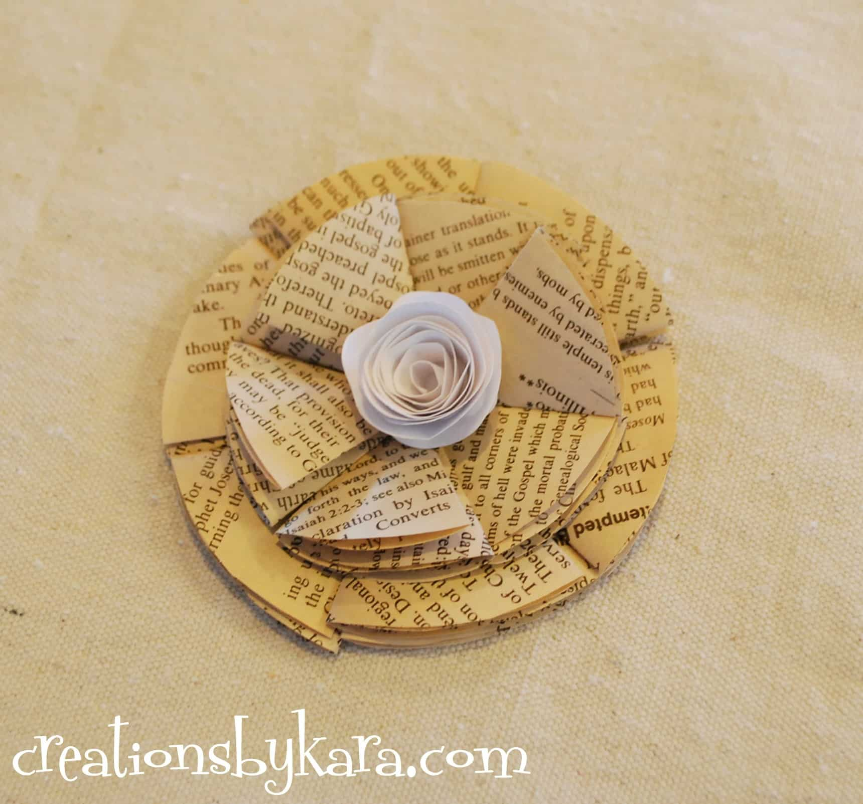 Folded paper flowers tutorial diy tutorial how to make paper flowers dhlflorist Image collections