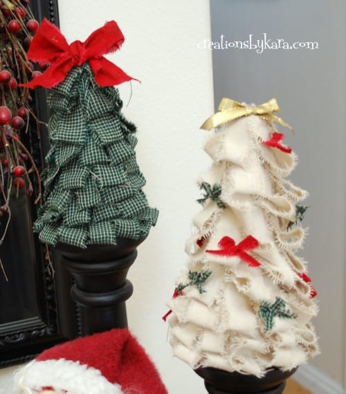 Fabric Christmas Trees Tutorial