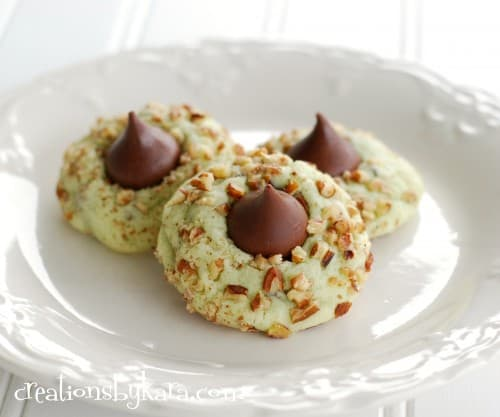 Christmas Cookie Recipe-Pistachio Kiss Cookies
