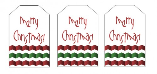 Christmas Gift Tags--Chevron