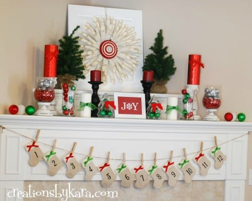 Christmas Mantel Decor 2012 012