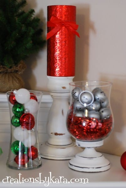 Christmas Mantel Decor 2012