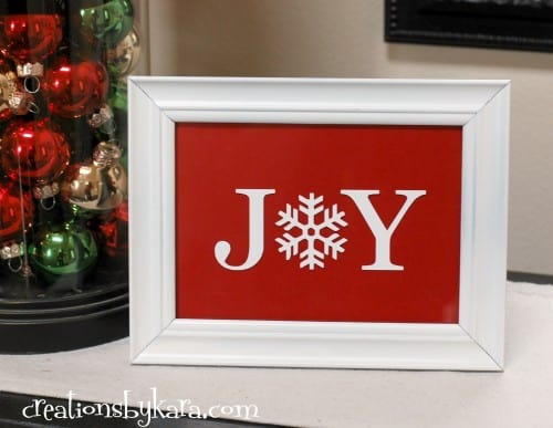 DIY Christmas Decor- Joy Sign