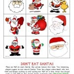 Christmas Games–Don't Eat Santa! {Free Printable}
