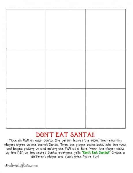 Don't Eat Santa Christmas Game